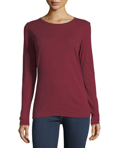 Majestic Paris for Neiman Marcus Cotton/Cashmere Crewneck