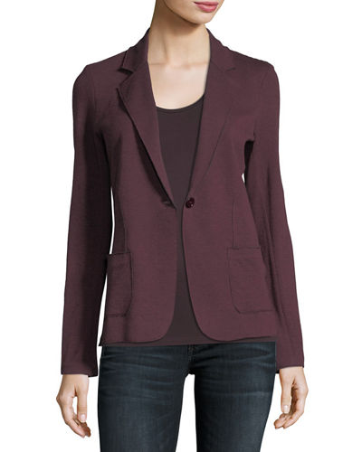 Cotton/Cashmere Knit Blazer