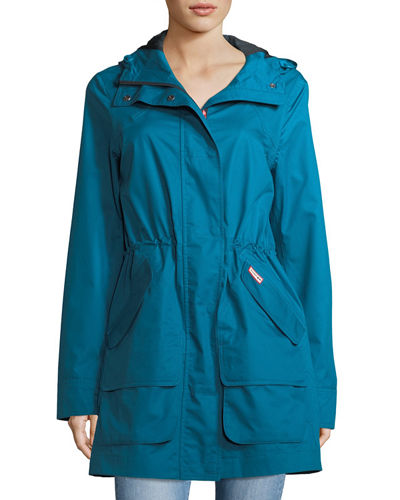 Hunter Boot Organic Cotton Waterproof Hooded Coat