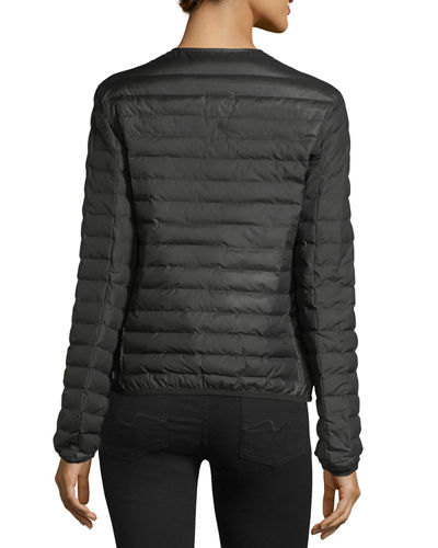 Hunter Boot Quilted Puffer Zip-Front Thermolite Jacket