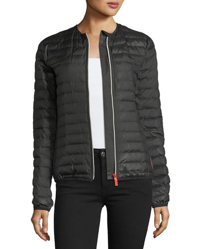 Quilted Puffer Zip-Front Thermolite Jacket