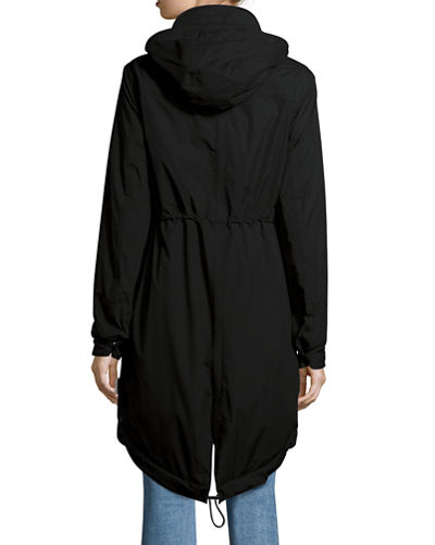 Long-Sleeve Hooded Parka Waterproof Jacket