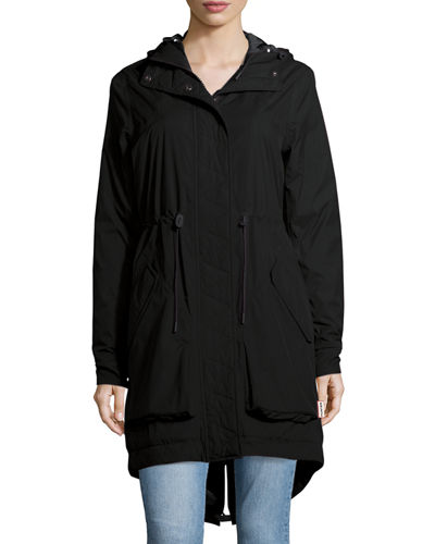 Hunter Boot Long-Sleeve Hooded Parka Jacket