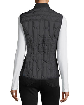 Image 3 of 6: Zip-Front Quilted Mid-Layer Vest