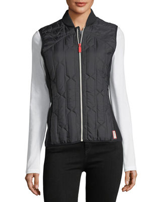 Image 5 of 6: Zip-Front Quilted Mid-Layer Vest