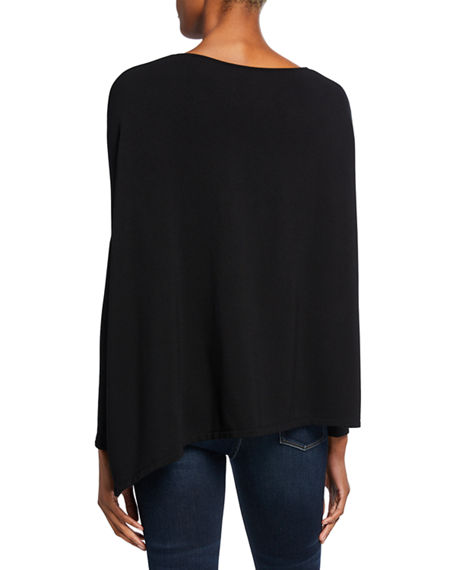 Image 2 of 2: Majestic Filatures Asymmetric Boat-Neck French Terry Top