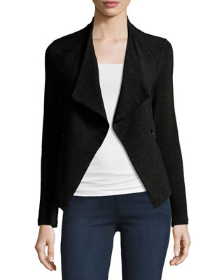 Draped French Terry Moto Jacket