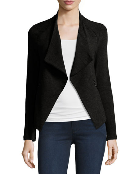 Majestic Filatures Draped French Terry Moto Jacket