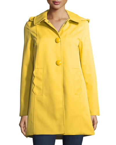 mac single-breasted a-line rain coat