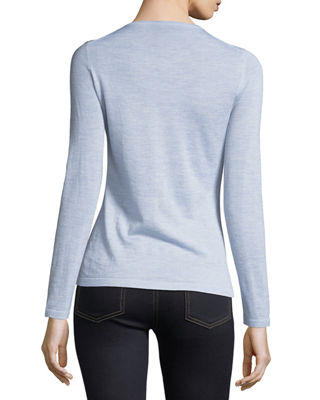 Image 3 of 3: Modern Superfine Cashmere Crewneck Sweater