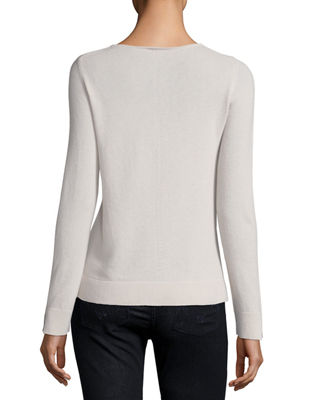Image 2 of 2: Cashmere V-Neck Sweater