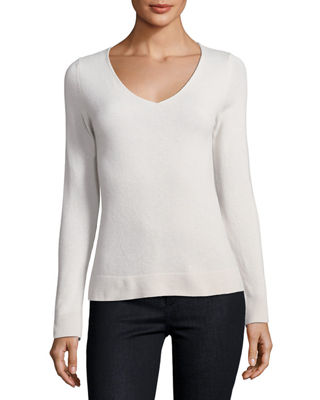 Image 1 of 2: Cashmere V-Neck Sweater