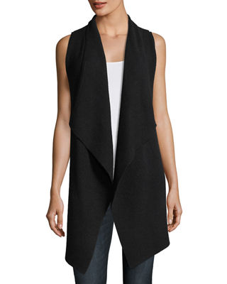 Variegated Ribbed Cashmere Vest