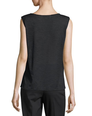 Image 2 of 2: Solid Knit Gauze Tank