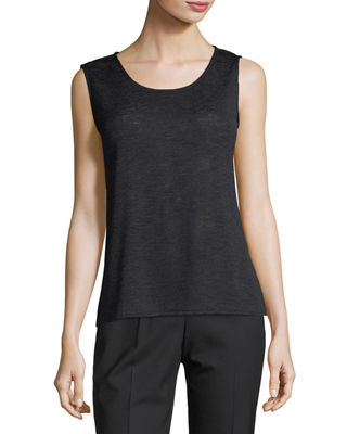 Image 1 of 2: Solid Knit Gauze Tank