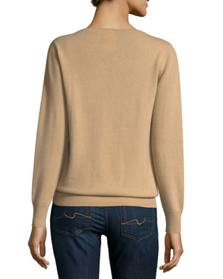 Image 3 of 3: Relaxed V-Neck Cashmere Sweater