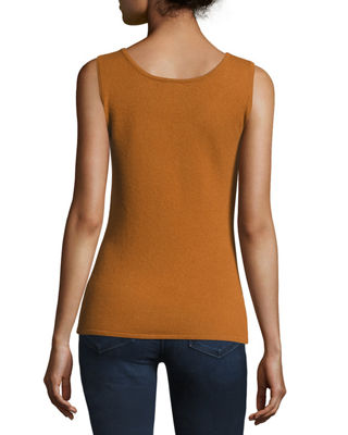 Scoop-Neck Cashmere Tank