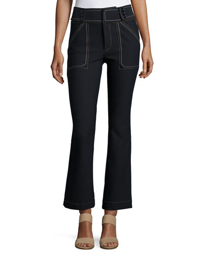 Utility Cropped Flare Trouser