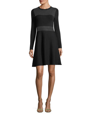 MICHAEL Michael Kors Long-Sleeve Embellished Dress