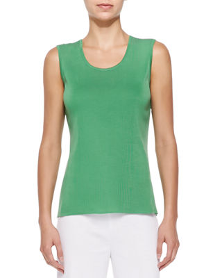 Misook Scoop-Neck Knit Tank Top, Petite
