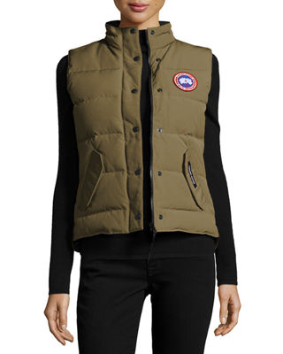 'Freestyle' Slim Fit Down Vest, Military Green