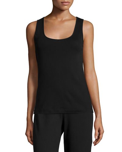 Joan Vass Basic Ribbed Tank, Plus Size