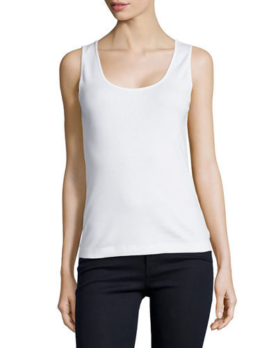 Basic Ribbed Tank, Plus Size