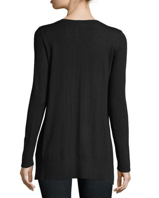 Image 2 of 2: Superfine V-Neck Cashmere Sweater