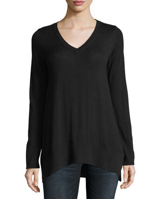 Image 1 of 2: Superfine V-Neck Cashmere Sweater