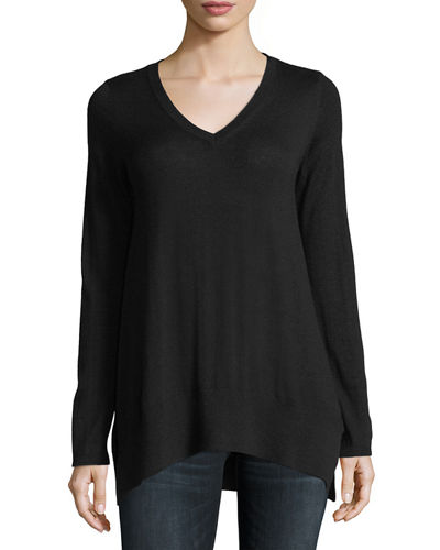 Superfine V-Neck Cashmere Sweater