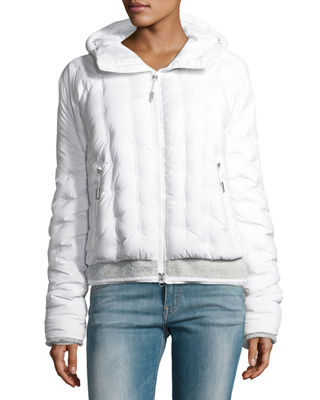 The North Face Quilted Puffer Hooded Bomber Jacket