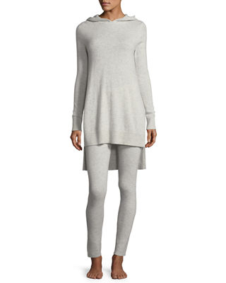 Cashmere Hoodie & Ribbed Legging Lounge Set