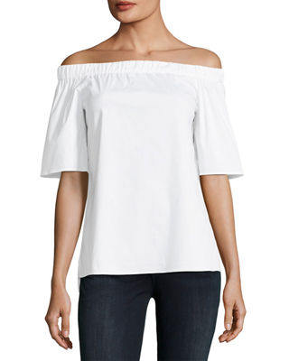 Lafayette 148 New York Livvy Short-Sleeve Off-the-Shoulder