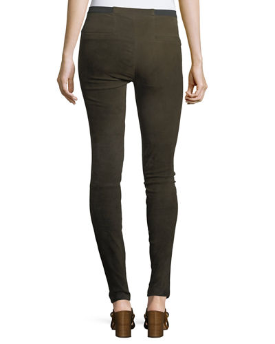 Stretch-Suede Leggings