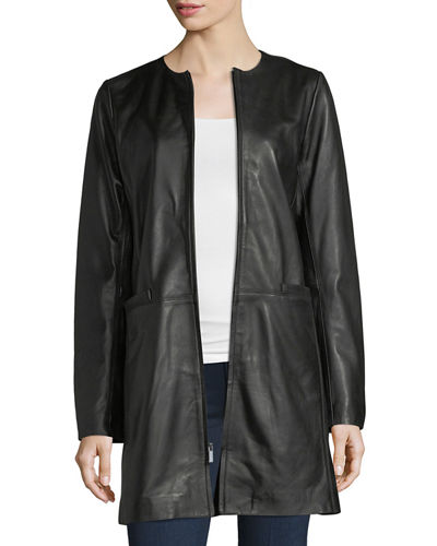 Leather Topper Jacket