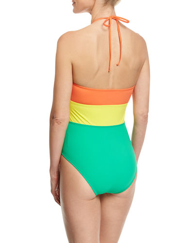 Halter-Neck One-Piece Swimsuit