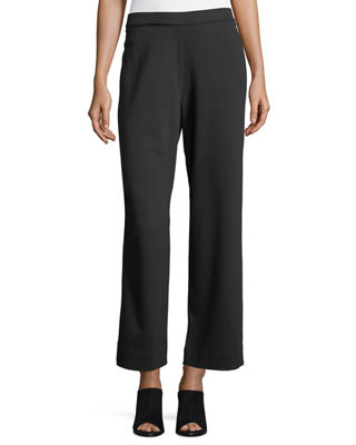 Stretch-Interlock Ankle Casual Pants