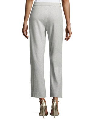 Image 2 of 2: Stretch-Interlock Ankle Casual Pants, Plus Size