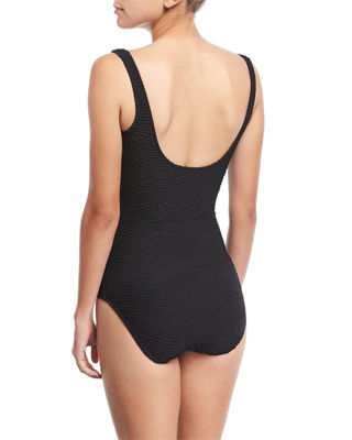 Image 2 of 2: Essence Square-Neck One-Piece Swimsuit