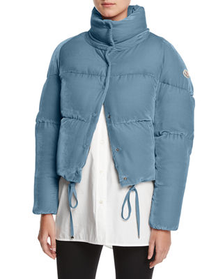 Moncler Cercis Cropped Velvet Puffer Coat and Matching
