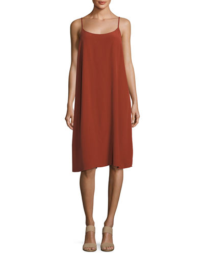 Eileen Fisher Long Crinkled Crepe Duster and Matching
