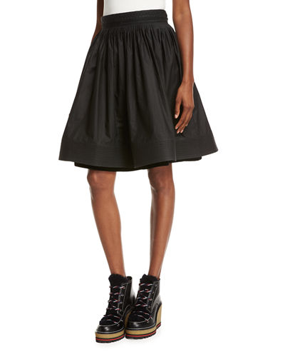 Moncler High-Waist Pleated Circle Skirt