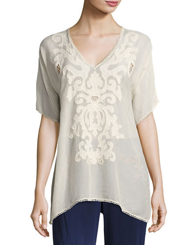 Johnny Was Harley V-Neck Georgette Blouse