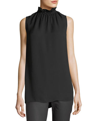 Image 1 of 5: Percy Sleeveless Silk Blouse