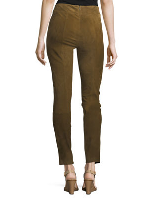 Image 3 of 3: Stretch-Suede Leggings