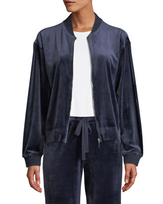 Natori Velour Zip-Front Jacket