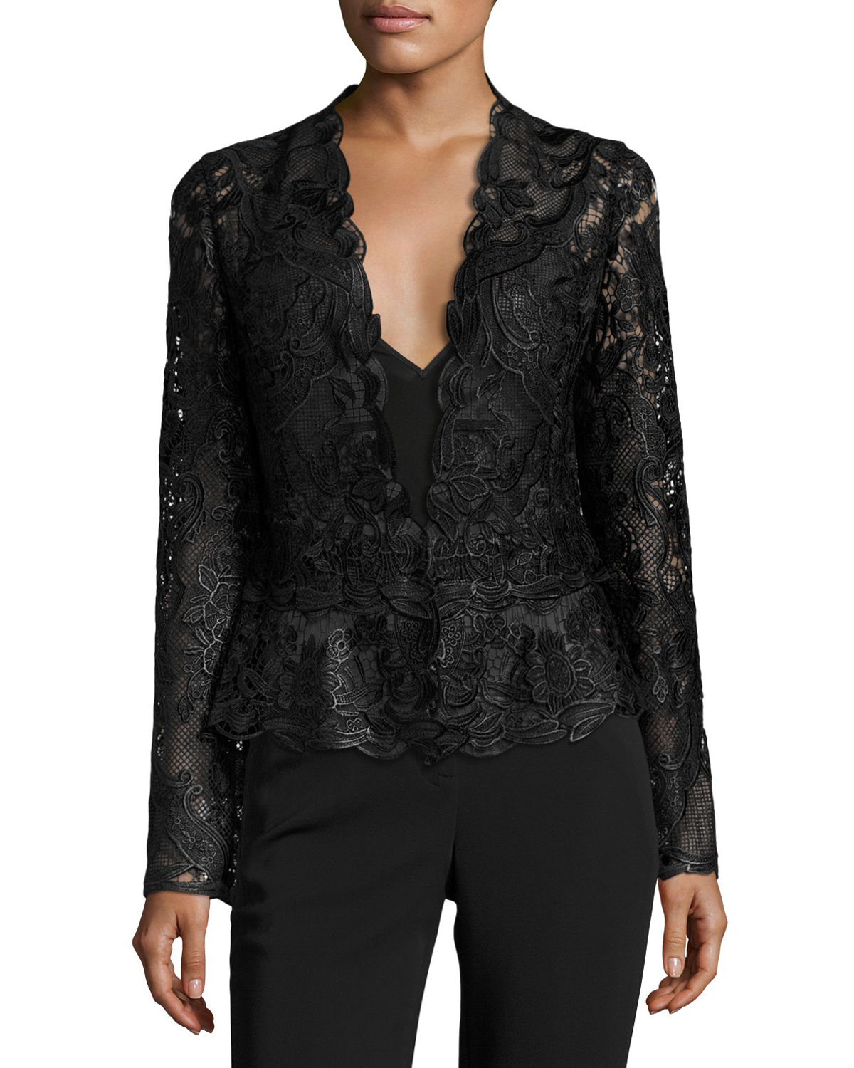 Miranda Tailored Lace Cocktail Jacket