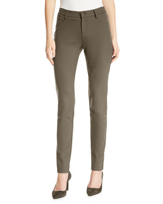 Mercer Acclaimed Stretch Mid-Rise Skinny Jeans, Nougat