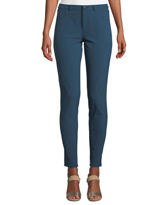 Mercer Acclaimed Stretch Mid-Rise Skinny Jeans in Empress Teal