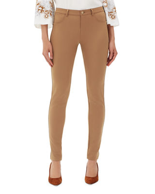 Mercer Acclaimed Stretch Mid-Rise Skinny Jeans in Light Beige